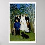 El banquete de boda de Henri Rousseau Posters