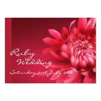El banquete de boda de rubíes invita a 40.o invitación 11,4 x 15,8 cm