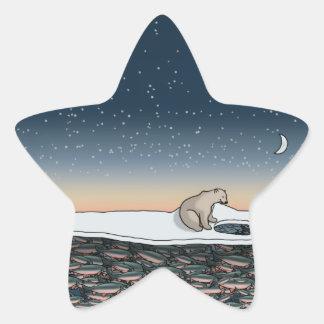 El banquete de Fishermans, pegatinas de la Pegatina En Forma De Estrella