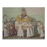 El banquete de la agricultura en 1796 en París Postal