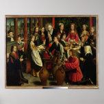 El banquete de la boda en Cana, c.1500-03 Póster