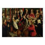 El banquete de la boda en Cana, c.1500-03 Tarjeta De Felicitación