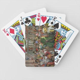 El banquete de la boda en Cana, detalle de banquet Baraja Cartas De Poker