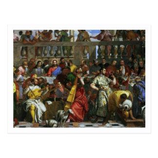 El banquete de la boda en Cana, detalle de los Postal