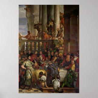El banquete de la boda en Cana Posters