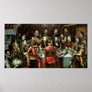 El banquete de los monarcas, c.1599 póster