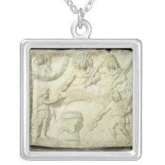 El banquete de Mithras y del Sun Colgante Cuadrado