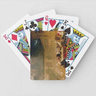 El banquete del Belshazzar (aceite en lona) Baraja Cartas De Poker