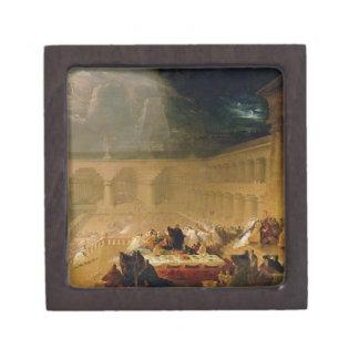 El banquete del Belshazzar (aceite en lona) Cajas De Recuerdo De Calidad