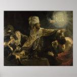 El banquete del Belshazzar Posters