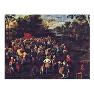 El banquete del boda por Bruegel D Ä enero el m Postales