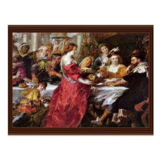 El banquete del Herododes de Rubens Peter Paul Postales