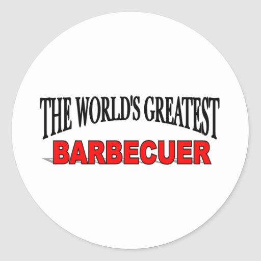 El Barbecuer más grande del mundo Pegatina Redonda