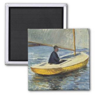 El barco amarillo, 1891 - Gustave Caillebotte Imán Cuadrado