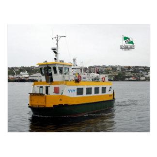 El barco Angvik de la lanzadera Postales