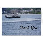 El barco de cruceros le agradece cardar tarjetas