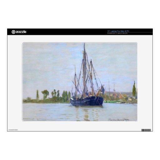 El barco de navegación de Claude Monet Portátil Skin