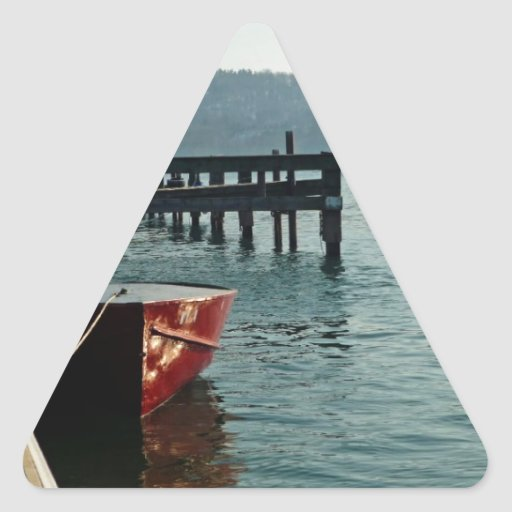 El barco de pesca colcomanias de trianguladas