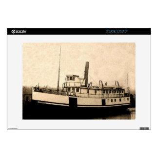 El barco de vapor del isleño calcomanías para portátiles