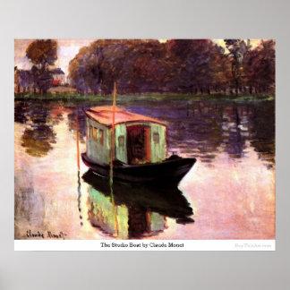 El barco del estudio de Claude Monet Impresiones