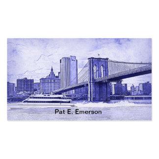 El barco del puente de Brooklyn del horizonte de Plantilla De Tarjeta De Visita