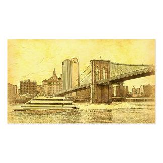 El barco del puente de Brooklyn del horizonte de Plantillas De Tarjetas Personales