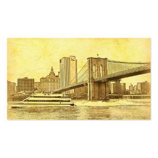 El barco del puente de Brooklyn del horizonte de Tarjeta De Visita