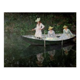 El barco en Giverny, c.1887 Postal