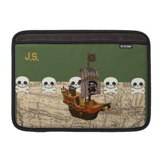 El barco pirata del dibujo animado personaliza fundas para macbook air