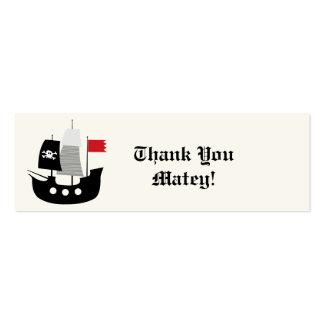 El barco pirata embroma la etiqueta del regalo del tarjetas de visita mini