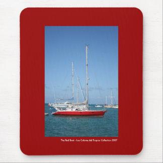 El barco rojo alfombrilla de ratones