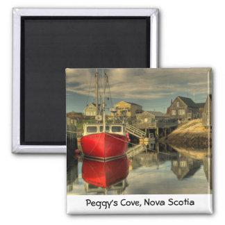 El barco rojo, la ensenada de Peggy, Nueva Escocia Imán