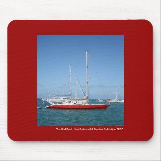 El barco rojo tapete de raton