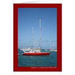 El barco rojo tarjetas
