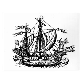 El barco 'Victoria de Fernando de Magallanes Postales