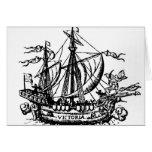 El barco 'Victoria de Fernando de Magallanes Tarjeta De Felicitación