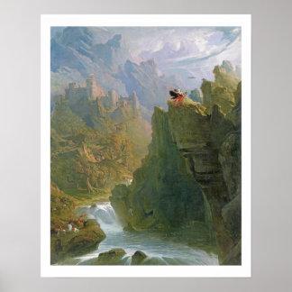 El bardo, c.1817 (aceite en lona) poster