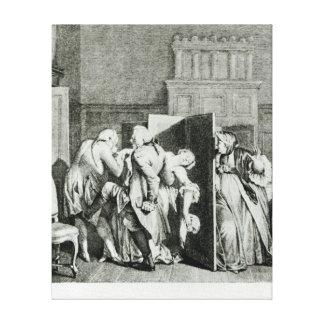 El barón… Candide saludado Lona Envuelta Para Galerias