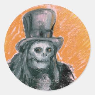 El barón Halloween Sticker Pegatina Redonda