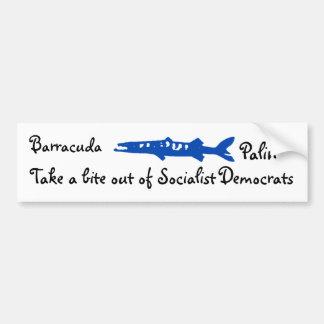 el barracuda, Barracuda, Palin, saca una mordedura Pegatina Para Auto