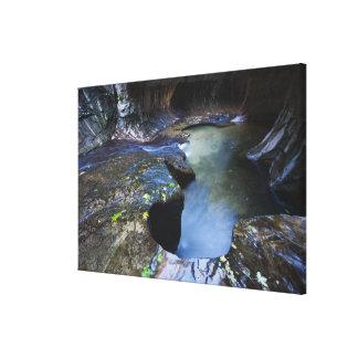 El barranco de la ranura del subterráneo lienzo envuelto para galerías