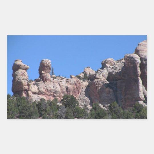 El barranco oscuro Utah ajardina Skyscapes Pegatina Rectangular