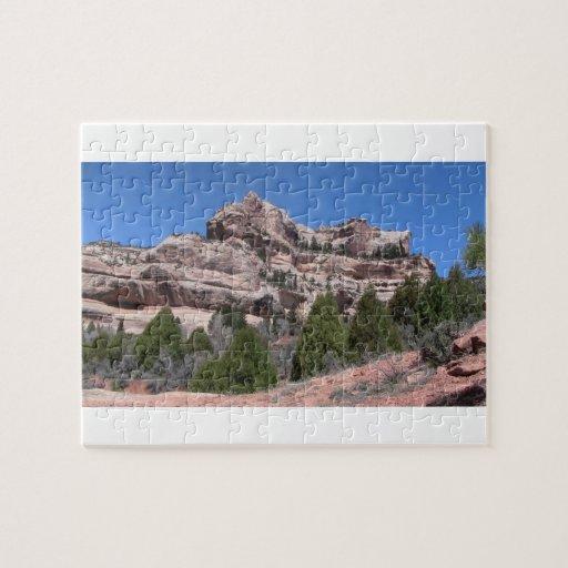 El barranco oscuro Utah ajardina Skyscapes Watersc Puzzle