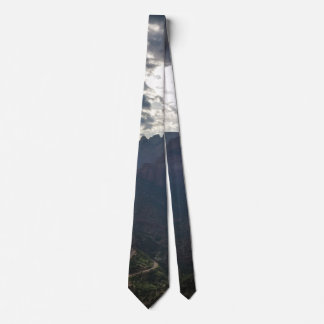 El barranco pasa por alto el parque nacional de corbata personalizada