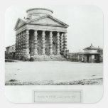 El Barriere de l'Etoile, París, 1858-78 Pegatina Cuadrada