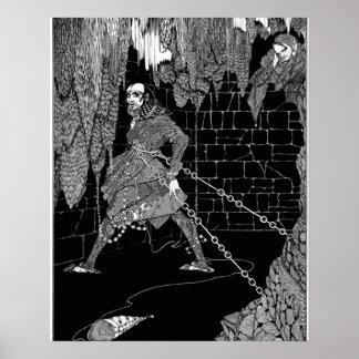 El barril de Edgar Allan Poe de Amontillado Póster