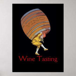 El barril de vino del vino corrige póster