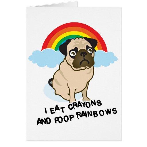 ¡El barro amasado admite a los arco iris pooping!  Tarjeta