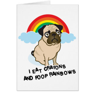 ¡El barro amasado admite a los arco iris pooping!  Tarjeta De Felicitación