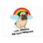 ¡El barro amasado admite a los arco iris pooping!  Tarjeta Postal